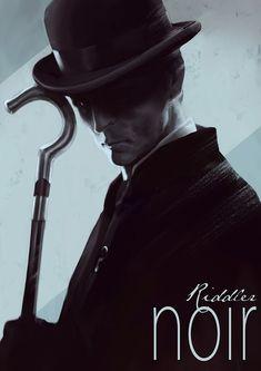 Riddler Noir by Henrik Sahlström #HenrikSahlström #TheRiddler #Riddler #EdwardNygma #LegionofDoom #InjusticeLeague #SecretSocietyofSuperVillains #Batman #GothamCity