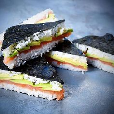 Love sushi? Then these #sushi sandwiches from @fooddeco might blow your mind. #lunch # #dinner  What combo would you make?