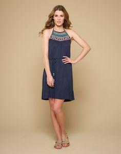 Dumai Embellished Dress | Navy | Monsoon