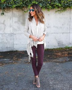 Fall Winter Outfits, Autumn Winter Fashion, Spring Outfits, Purple Fall Outfits, Black Outfits, Sonus Festival, Jeggings Outfit, Party Kleidung, Purple Leggings