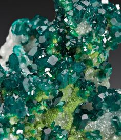 Dioptase with Dolomite and Duftite from Namibia by Dan Weinrich