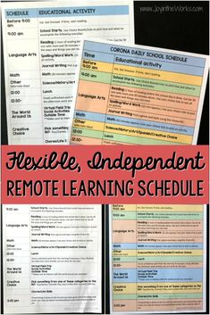 Struggling with your daily school schedule for remote learning? Need more time to yourself? Try this flexible, independent Remote Learning Plan that comes with 2 versions of a FREE Printable outlining how the kids get to help pick what they learn! #remotelearning #distancelearning #homeschooling #schoolschedule #homeschoolschedule #freeprintable