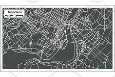 #Montreal #Canada #Map in #Retro #Style. by Igor Sorokin on @creativemarket
