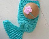 Mermaid tail, Bikini top and headband set