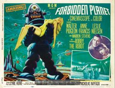 Lobby card for Forbidden Planet (1946) starring Walter Pidgeon, Anne Francis, Leslie Nielsen and Jack Kelly.