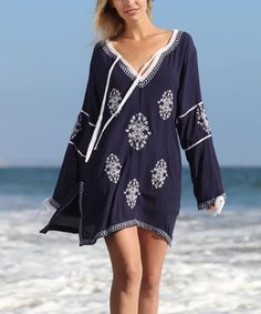 cd48d77cea64e Ananda's Collection Navy & White Snowflake Lace-Accent Dress - Women & Plus.  Plus SwimwearSwimwear ...