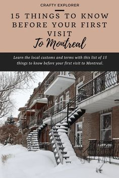 Montreal is a vibrant city full of culture. Learn the local customs and terms with this list of 15 things to know before your first visit to Montreal. Notre Dame Basilica, Old Montreal, Underground Cities, Mont Real, How To Speak French, Enjoying The Sun, Street Signs, Rental Property, Things To Know