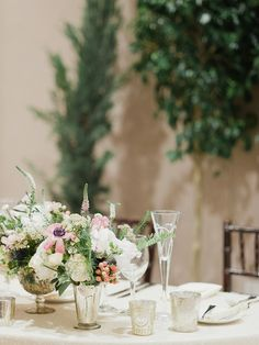 Elegant table setting for a formal wedding. Very classy and romantic!