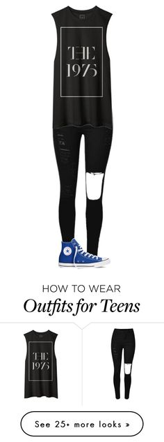 """""""Untitled #1324"""" by kayla3n on Polyvore featuring Converse, women's clothing, women, female, woman, misses and juniors"""