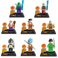 Dragon Ball Z Lego Characters 8 Per Set http://www.worldofgoku.com/dragon-ball-z-lego-characters-8-per-set/