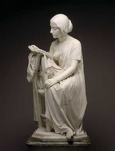 The Reading Girl by Pietro Magni, 1861, National Gallery of Art, Washington, D.C., US.