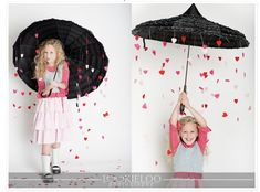 raining hearts umbrella photo idea
