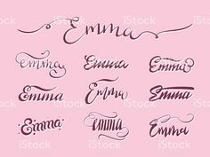 Personal name Emma. Baby Tattoos, Tattoos For Guys, Tatoos, Calligraphy Drawing, Calligraphy Name, Mom Daughter Tattoos, Tattoos For Daughters, Rose Marie, Names With Meaning