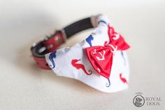 Seahorse Over The Collar Bandana With Anchor Bow Tie Dog Bandana, Bandanas, Bow Ties, Dog Gifts, Anchor, Bows, Personalized Items, Luxury, Trending Outfits