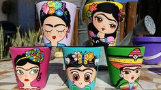 Flower Pot Art, Flower Pot Crafts, Clay Pot Crafts, Crafts To Make, Diy Crafts, Painted Flower Pots, Painted Pots, Pottery Painting Designs, Paint Designs