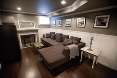 Basements Dark Stains And Fire Places On Pinterest