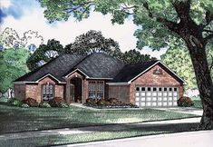 House Plan 62219 | European   Traditional    Plan with 1636 Sq. Ft., 3 Bedrooms, 2 Bathrooms, 2 Car Garage