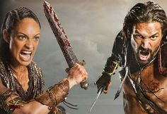 Nadia and damien Spartacus Tv Series, Manu Bennett, Pirate Life, Rome, Character Art, Weapons, Grunge, Purpose, Greek