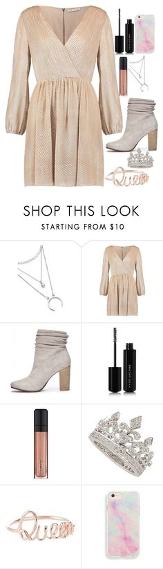 """Fancy dinner"" by torilee-03 ❤ liked on Polyvore featuring Alice + Olivia, Chinese Laundry, Marc Jacobs and L'Oréal Paris"