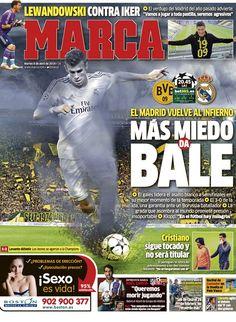 'Más miedo da Bale' | La portada del 8 de abril de 2014