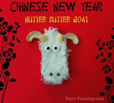 """Nutter Butter Goat Cookie"" -- 2015 is the Chinese Year of the Goat -- Click through for the instructions for this appealing goat."