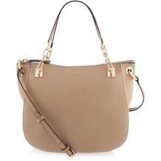 Henri Bendel Soho Crossbody Hobo ($209) ❤ liked on Polyvore featuring bags, handbags, shoulder bags, tan, crossbody purse, crossbody shoulder bags, beige shoulder bag, tan crossbody and tan purse