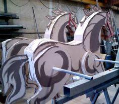 www.instant.es/es/, #dibujo, #playcolor, #colors, #paint, #draw, #colors, #fun, #pintar, #infantil, #children, #colour, #cardboard horse, #caballo de carton, playcolor mural
