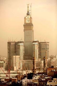 Makkah Royal Clock Tower - 601 meters, in Mecca, Saudi Arabia, was completed in 2012.