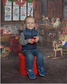 NEDC baby Sammy celebrates Christmas.