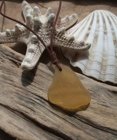 Sea glass jewelry Rare Yellow Sea Glass by byNaturesDesign on Etsy, $20.00