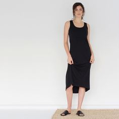 Everyday Organic Basics  Maxi Tank Dress in Black. Made from ethical certified organic cotton  Available online now: www.careoflabel.com