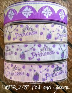 "USDR Sofia the Firts inspired princess crown 7/8"" Grosgrain Ribbon, amulet US Designer Ribbon, Hair Bow Supply, craft supply, lanyard supply by JJsBowsTuTusAndMore on Etsy"
