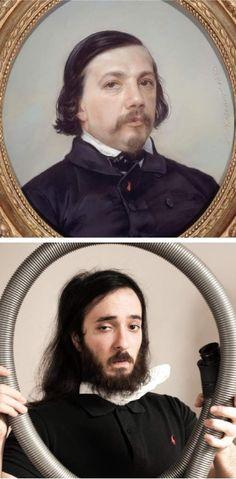 l'humoriste et youtuber  @AVNER_PERES dépoussière le portrait de Théophile Gauthier pour une réinterprétation que Balzac, (dont le musée conserve ce portrait), objet de nombreuses caricatures, aurait apprécié en son temps - See more at: http://parismusees.paris.fr/fr/paralleles-paris-musees-les-oeuvres-des-musees-de-la-ville-de-paris-remixees-sur-instagram#sthash.dkk6N8vP.dpuf