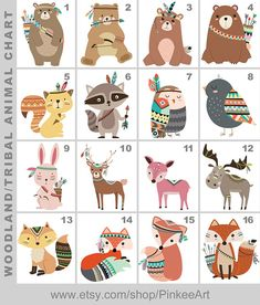 tribal woodland animals nursery wall art, be brave print, aztec nursery decor forest animals, tribal baby wall decor PRINT/CANVAS/DIGITAL Woodland Animal Nursery, Woodland Baby, Woodland Animals, Forest Animals, Woodland Decor, Tribal Fox, Tribal Animals, Tribal Arrows, Aztec Nursery