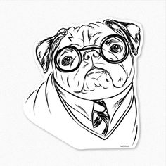 #HarryPotter and #Pug fans can't resist this decal sticker!