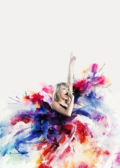 Taylor swift abstract painting.