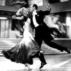 Ginger Rogers & Fred Astaire:  She did everything he did, only backwards & in high heels!!!