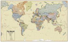 Political World Map - World Political Map - World Wall Maps