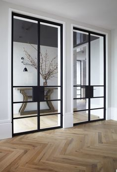 Steel doors. Wylde Street apartment by SJB Interiors.