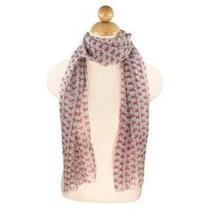 Elegant Sheer Dots & Ribbon Bows Print Fashion Scarf, Light Pink TrendsBlue. $6.99