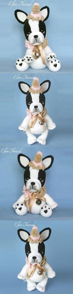 Gaspard The French Bulldog Amigurumi Pattern