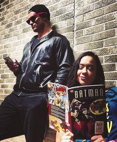 AJ Lee and Dolph Ziggler, and a batman graphic novel Aj Lee, Wrestling Superstars, Wrestling Divas, Wwe Brock, Wwe 2, Batman Love, Wwe Couples, Dolph Ziggler, Brock Lesnar
