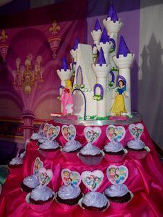 Disney princess castle birthday cake
