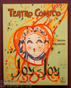 "Vintage ""Joy Joy"" poster from Barcelona, Spain"