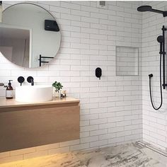 ⠀ //  This bathroom though  / Tag your photo with #mynordicroom  //⠀ Photo credit: @taliamintsix ⠀ .⠀ .⠀ .⠀ Don't miss out on your daily Nordic interior design inspiration! Follow us on Facebook  / Link in bio