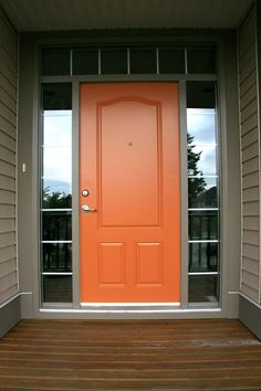 Tara Dillard: this style door can make a low ceiling appear taller. Benjamin Moore - Buttered Yam