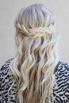 Waterfall Braid for Long Blond Hair