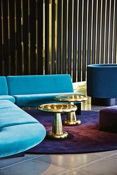 The lounge in Tom Dixon's Mondrian Hotel in London | Hotel Interior Design Trends. Hospitality Furniture. Hospitality Projects. Luxury Real Estate. Leading Hotels. See more: http://www.brabbu.com/en/news-events/category/interior-design/hospitality-projects