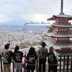 #JapanLoverMeStore team and the beautiful Chureito Pagoda during the full sakura bloom 🌸🌸🌸 JLM-STORE.com