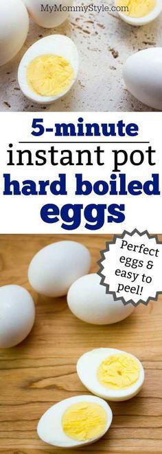 5-Minute Instant Pot Hard Boiled Eggs